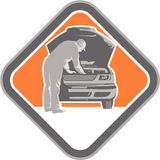 Automotive Mechanic Car Repair Woodcut Royalty Free Stock Photos