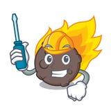 Automotive meteorite mascot cartoon style. Vector illustration Stock Photos