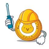 Automotive Monacoin mascot cartoon style. Vector illustration Stock Photos