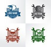 Automotive motor sport racing badge emblem vector logo design set. Template Royalty Free Stock Photos