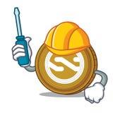 Automotive Nxt coin mascot cartoon. Vector illustration Royalty Free Stock Photos