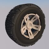 Automotive off road wheel. 3D render Stock Images