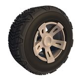 Automotive off road wheel isolated on white. 3D render Stock Photo