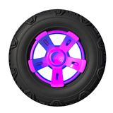 Automotive off road wheel isolated on white. 3D render Royalty Free Stock Image