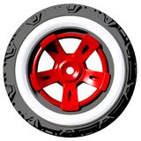 Automotive off road wheel isolated on white. 3D render Royalty Free Stock Photography