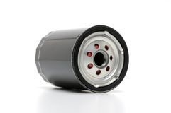 Automotive Oil Filter. Shot on white Stock Image