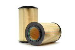 Automotive Oil Filter. Shot on white Royalty Free Stock Photos