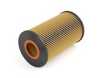 Automotive oil filter. Cartridge on white background Royalty Free Stock Photos