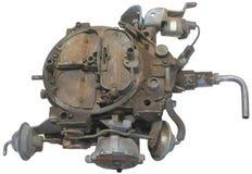 Automotive part. Closeup of engine carburetor on white background Royalty Free Stock Photography