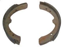 Automotive parts. Closeup of automotive brake shoes on white background Stock Photo