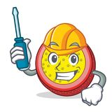 Automotive passion fruit mascot cartoon. Vector illustration Royalty Free Stock Photography