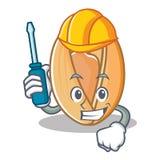 Automotive pistachio nut mascot cartoon. Vector illustration Royalty Free Stock Image