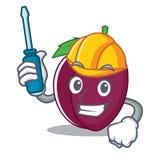 Automotive plum mascot cartoon style. Vector illustration Royalty Free Stock Photo