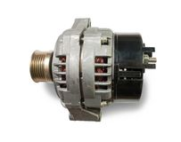 Automotive power generating alternator. Isolated on white with clipping path Stock Photos