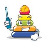 Automotive pyramid ring character cartoon Royalty Free Stock Photography