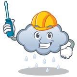 Automotive rain cloud character cartoon Stock Image