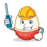 Automotive rambutan mascot cartoon style. Vector illustration Stock Images