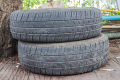 Automotive rubber. Old tires, unused. Remnants of the old split Royalty Free Stock Photography