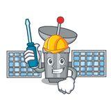 Automotive satelite mascot cartoon style. Vector illustration Royalty Free Stock Photos