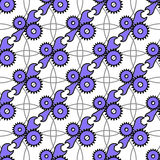 Automotive seamless pattern with service icon. Background with a blue wrench and gears. royalty free illustration