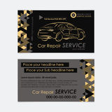 Automotive Service business card template. Car diagnostics and transport repair. Create your own business cards. royalty free illustration
