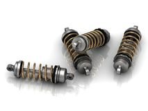 4 automotive shock absorber Stock Image