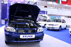 Automotive-show. Daewoo Sens Stock Images