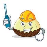 Automotive snake fruit mascot cartoon. Vector illustration Stock Photo