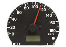 Automotive speedometer. On a white background Royalty Free Stock Photography