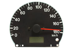 Automotive speedometer. On a white background Stock Photography