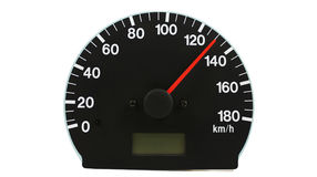 Automotive speedometer. On a white background Royalty Free Stock Photo