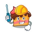 Automotive sponge cake mascot cartoon. Vector illustration Stock Photo