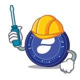 Automotive Status coin mascot cartoon. Vector illustration Stock Photography