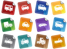 Automotive Sticker Buttons Stock Images