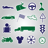 Automotive stickers collection eps10. Automotive stickers color collection eps10 stock illustration