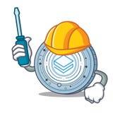 Automotive Stratic coin mascot cartoon. Vector illustration Royalty Free Stock Photos