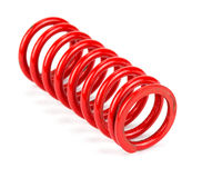 Automotive suspension springs Royalty Free Stock Images