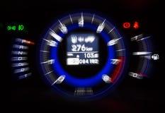 Automotive tachometer on black background, motion blur filter ef Stock Images