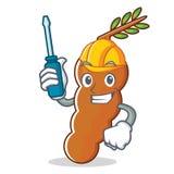 Automotive tamarind mascot cartoon style. Vector illustration Stock Images