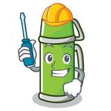 Automotive thermos character cartoon style Stock Photography