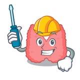 Automotive thyroid mascot cartoon style. Vector illustration Royalty Free Stock Images