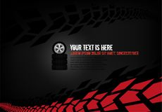 Automotive Tire Background. Vector automotive banner template. Grunge tire tracks backgrounds for landscape poster, digital banner, flyer, booklet, brochure and stock illustration