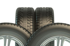 Automotive tires Stock Images