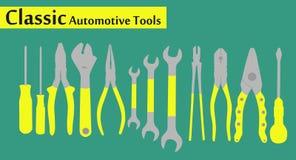 Automotive tools. Set isolated background Stock Images