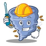 Automotive tornado character cartoon style. Vector illustration Royalty Free Stock Image