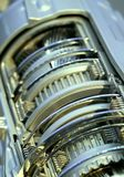 Automotive Transmission. Close up shot of automotive transmission cut section Royalty Free Stock Photo