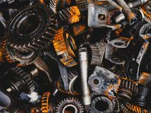 Automotive transmission gearbox of cars. Closeup Stock Photography
