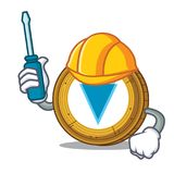 Automotive Verge coin mascot cartoon. Vector illustration Royalty Free Stock Photo