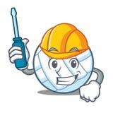 Automotive volley ball character cartoon Royalty Free Stock Photos