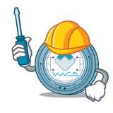 Automotive Waves coin mascot cartoon. Vector illustration Royalty Free Stock Image